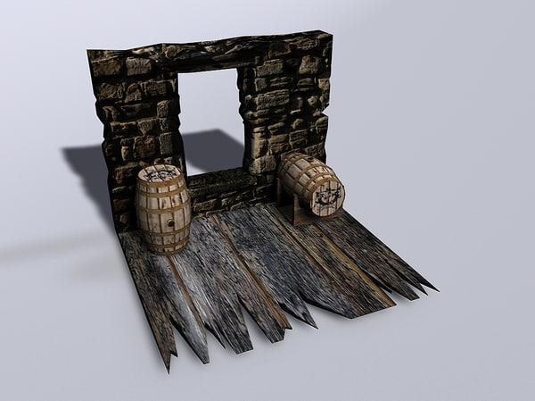 3ds max arrel wood wooden