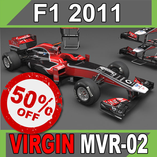 3d 3ds 2011 marussia virgin mvr-02