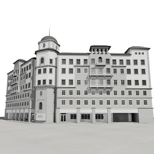 boca raton office building 3d max