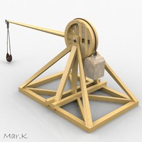 3d model of catapult leonardo da