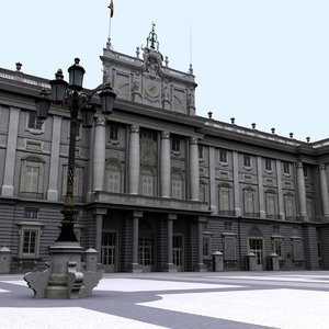 3d model of royal palace madrid