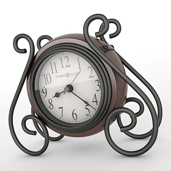 3d model analog mantel clock