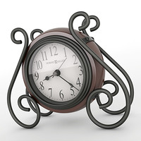3d model analog mantel clock
