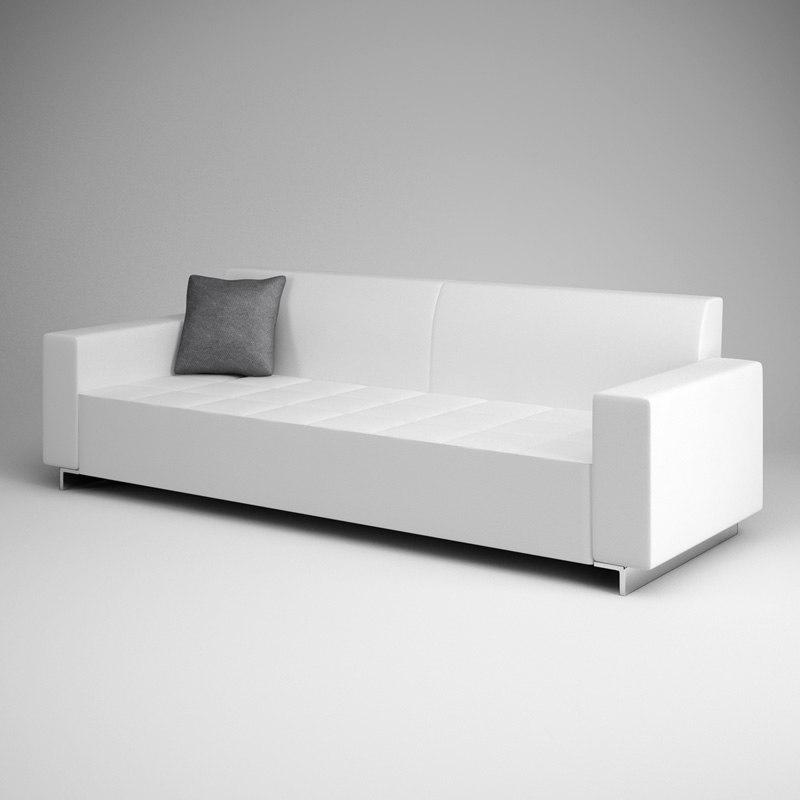 white sofa 07 3d c4d