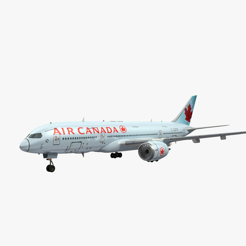 3d canada aircraft airplane airliner model