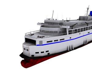 3d ferries model