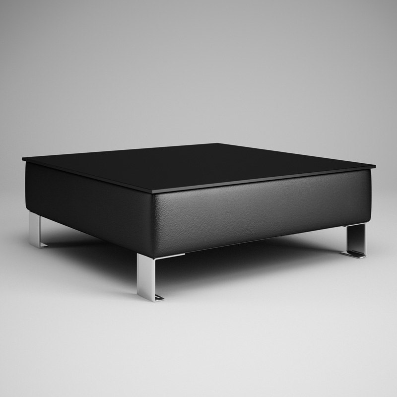 c4d black living room table