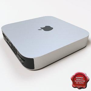 3d apple mac mini v2 model