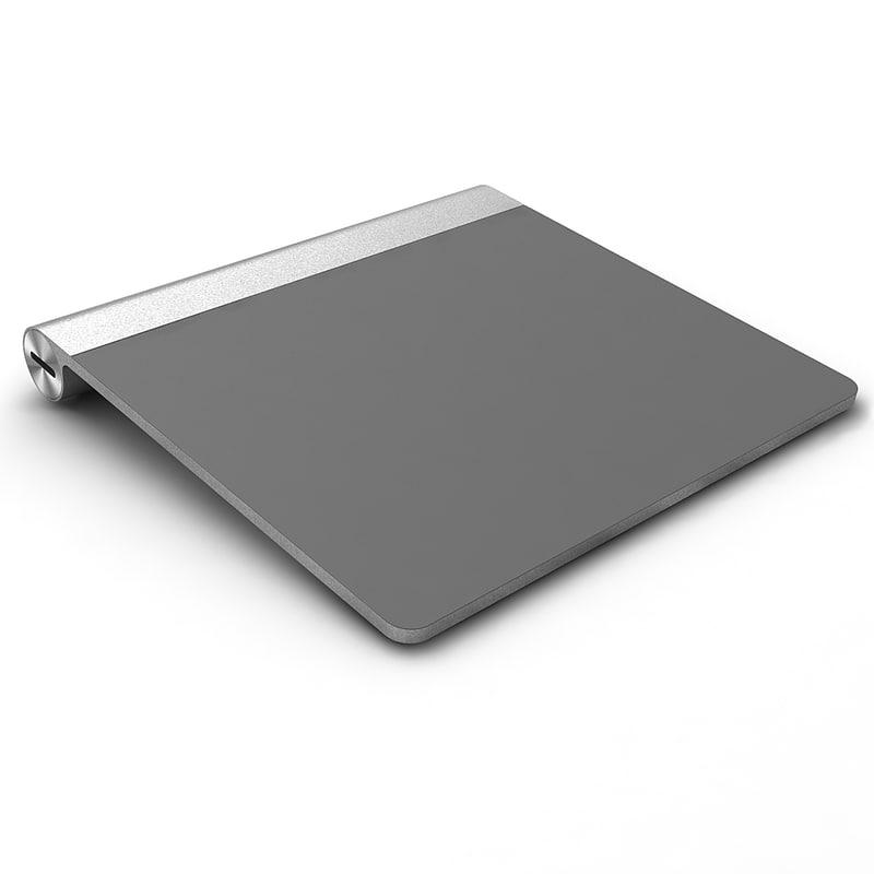 apple magic trackpad 3d model