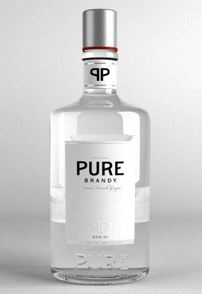 3d brandy bottle