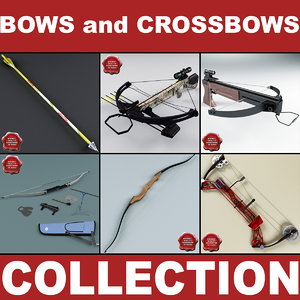 3d bows crossbow model