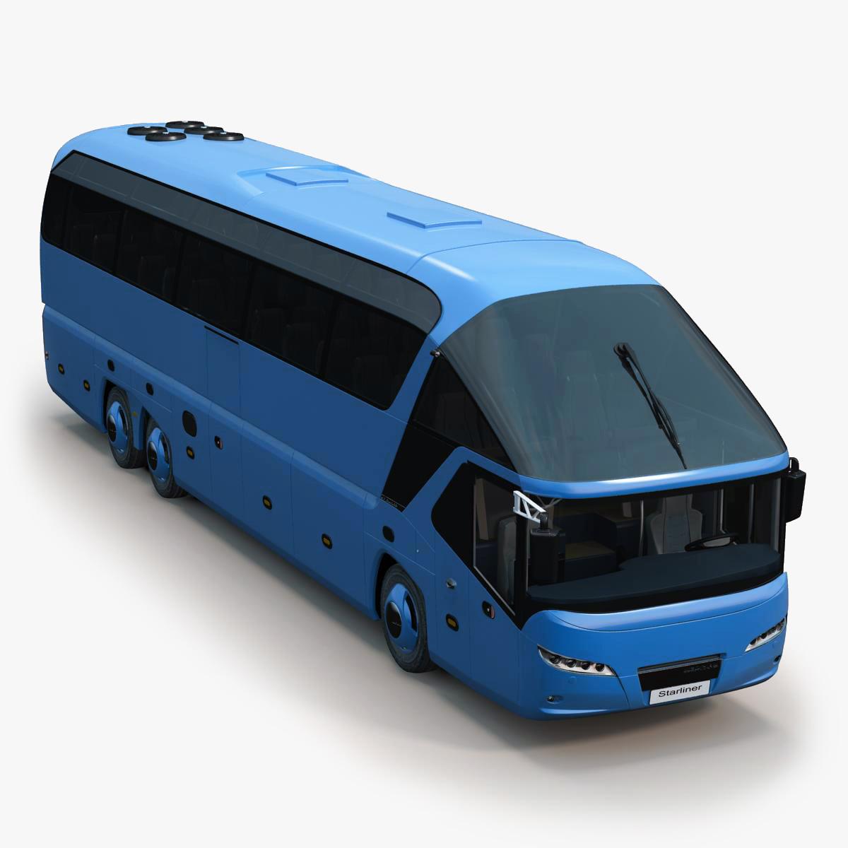 3d realistic bus neoplan starliner model