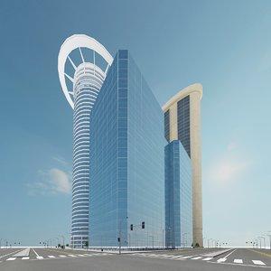 3d model new city block 4