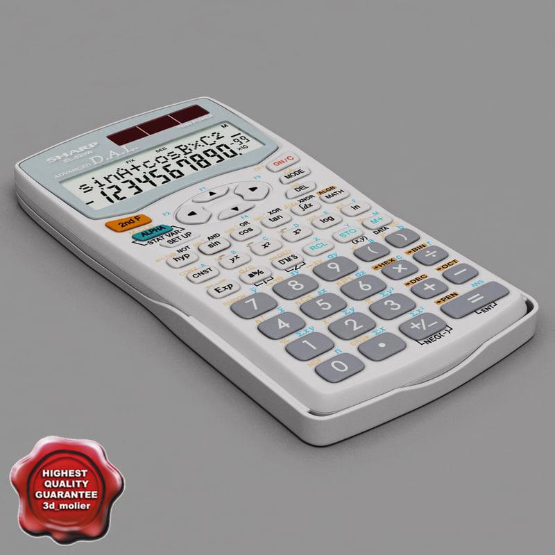 calculator sharp el-520w white max