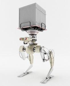 robot futuristic shipping 3d obj