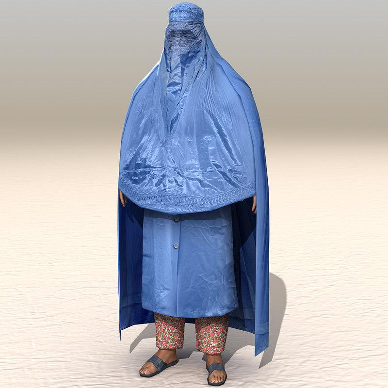 3d model arab afghani casual 14