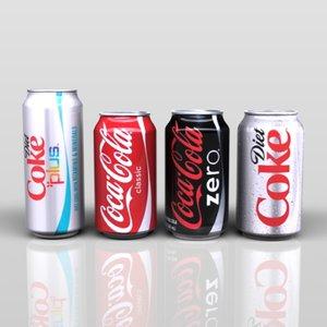 cock soft drink 3d model