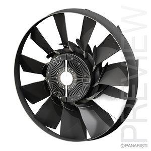 engine cooling fan 3d model