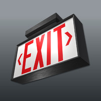 emergency exit sign 3d model