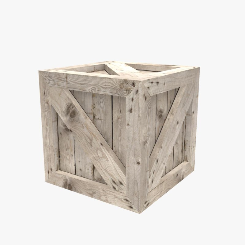 3dsmax wooden crate