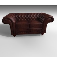 3ds max grosvenor 2 seater leather chair