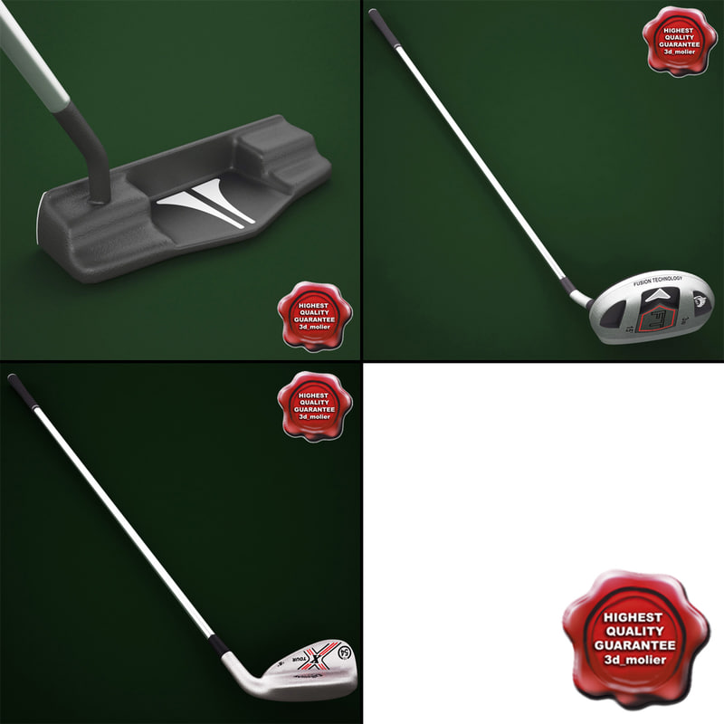 golf sticks v4 3d max