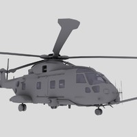 Merlin EH101 HC3 Transport Helicopter Game model