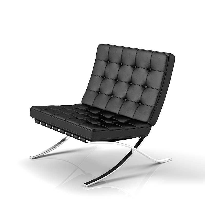 3d knoll barcelona chair for Chaise barcelona knoll prix