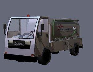 lavatory vehicle 3d model