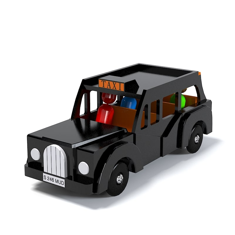 3ds max london taxi toy