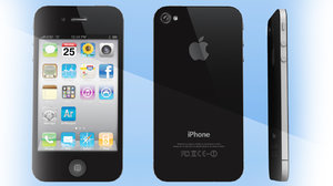 free obj model apple phone 4