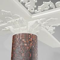 3d pillar mouldings model