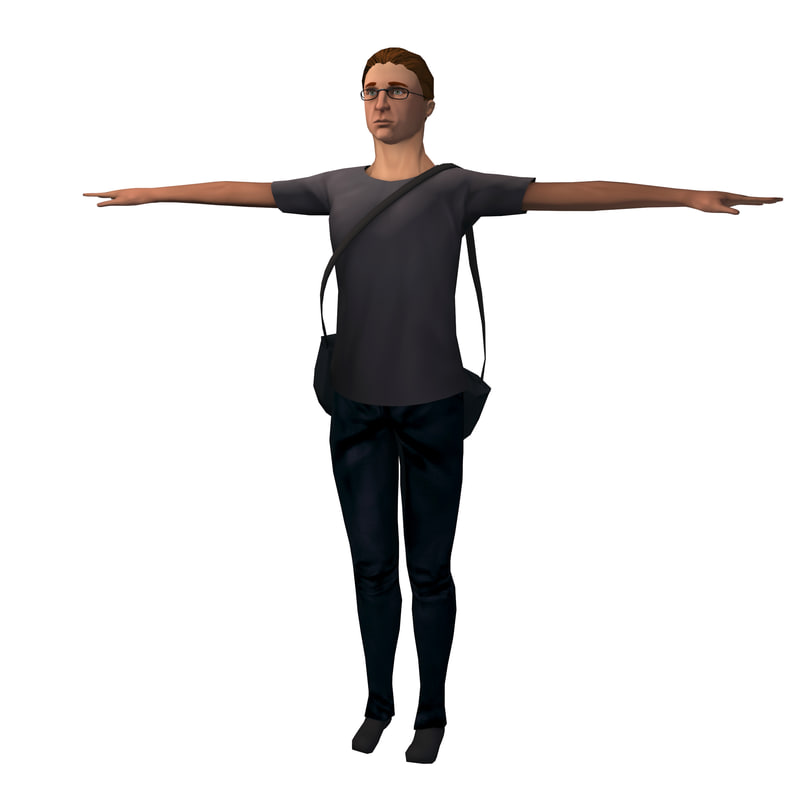 3d model generic messenger