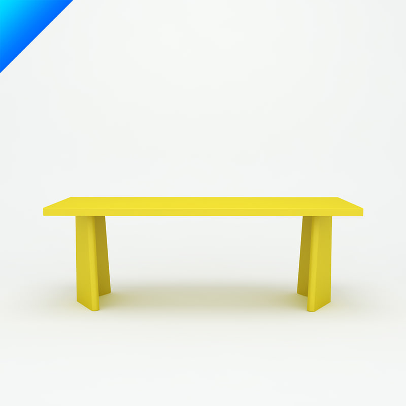 3d pallas table design konstantin grcic model