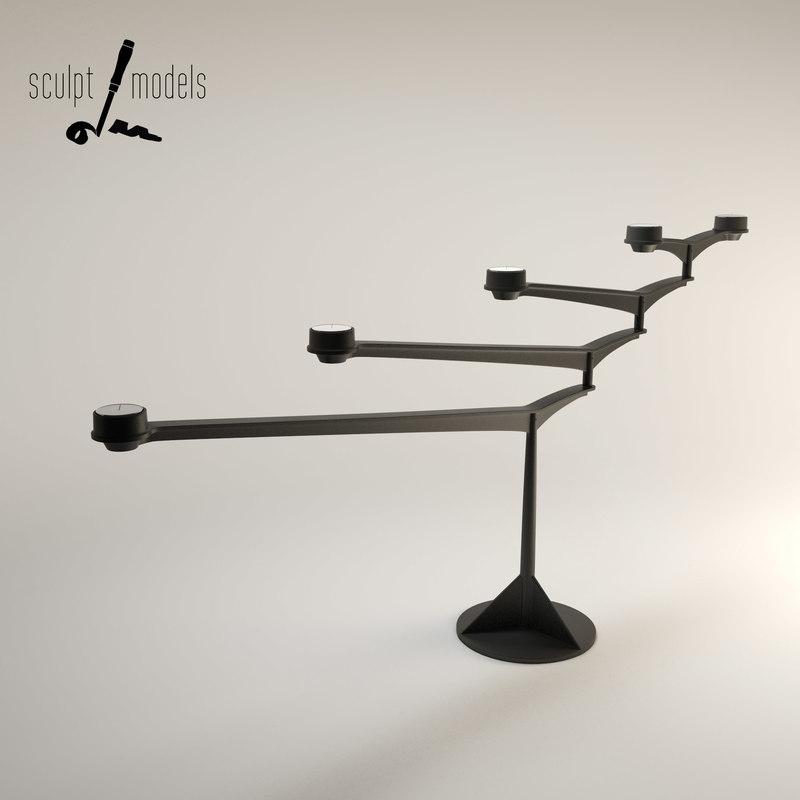 3d spin candelabra model