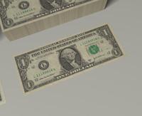 3d c4d dollar bill