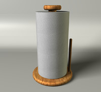 3d model kitchen paper towel roll