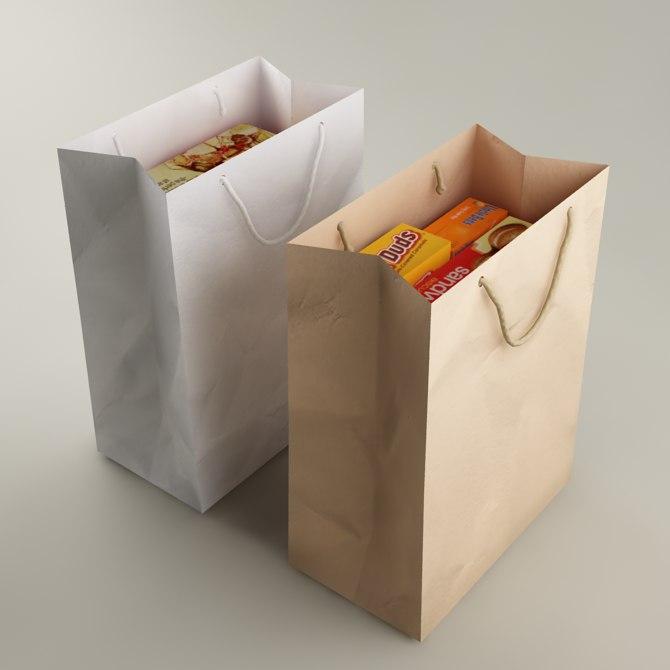 bag packs 3d model