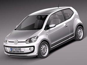 3d model of volkswagen up! city car
