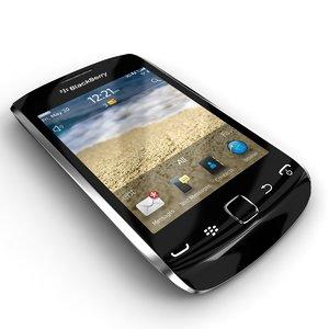 3d rim blackberry curve 9380 model