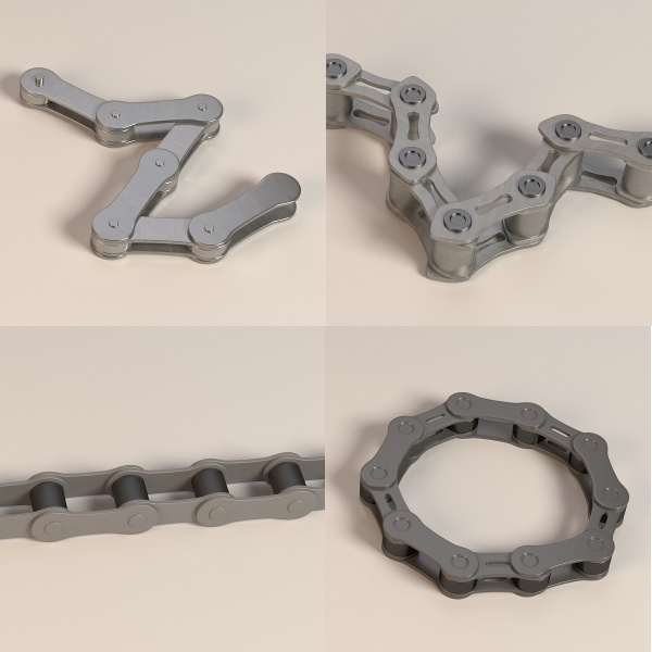 bike chains 3d model
