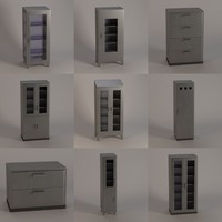3d model hospital cabinets