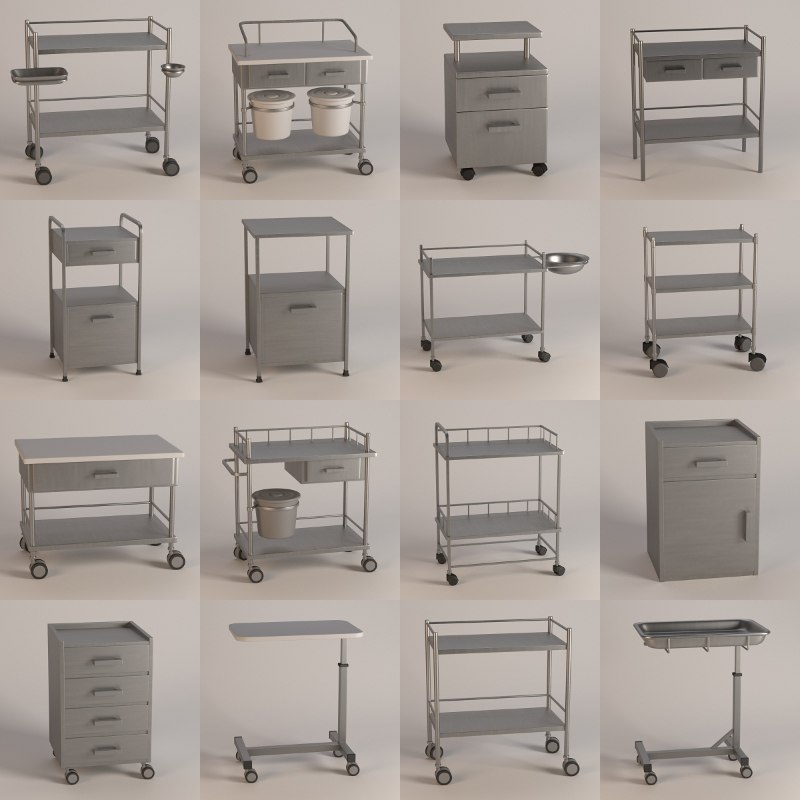 hospital tables 3d model
