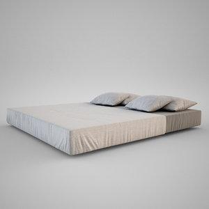 bed set 3d obj