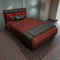 3d model bed pillows design