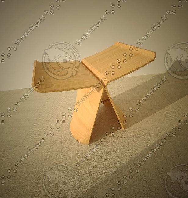 butterfly stool 3d model