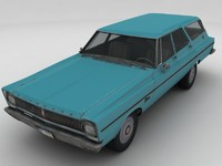 65 plymouth belvedere wagon 3d model