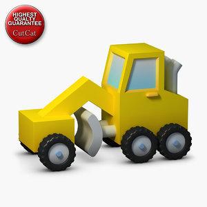 3d model construction icons 11 traktor