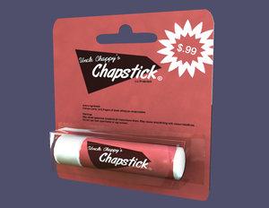 chapstick 3d model