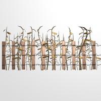fence corn 3d model